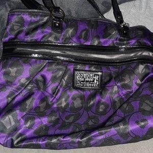 Coach Poppy Daisy Leopard print bag
